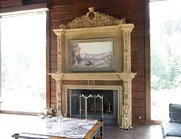 Fireplace Forest Village Spa
