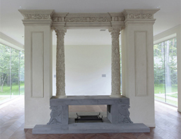 Fireplace - A Residence Near Moscow